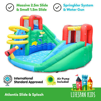 Inflatable Trampoline Bounce House Jump ToyAtlantis Slide & Splash lifespan kids