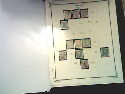 Zambesia Collection On Album Pages, Both Mint An Used