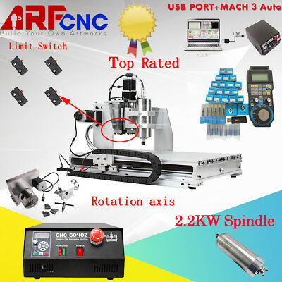 US NEW 4 axis 6040 2200W USB MACH3 CNC ROUTER ENGRAVER/ENGRAVING 220VAC