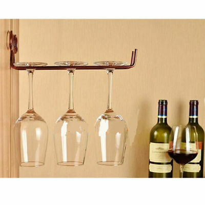 Wall Mounted Wine Glass Rack Goblet Cup Stemware Holder Shelf Hanging Rack