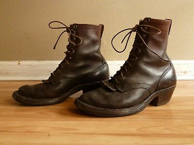 VIntage White's Packer Farmer Logger Rancher Work Boots Made in USA - Size 9 E