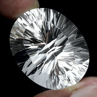 Explode Natural Flawless Big Oval Concave Cut 64.73 Ct 30x24 Mm Aaa White Quartz