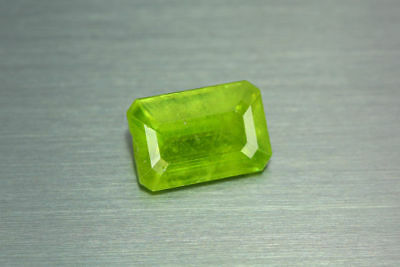 3.710ct EXCELLENT NATURAL EARTH MINED RARE 3A GREEN COLOR SPHENE TITANITE RUSSIA