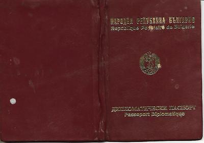 Diplomatic Invalid Passeport-Bulgaria -Leather Cover-Visas-Very Rare-44Pages