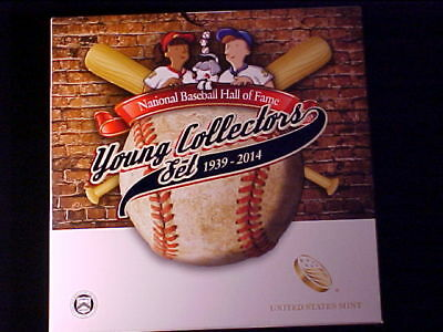 Baseball Clad Half Dollar 2014-D Gem Bu Young Collectors Set Nice Fresh