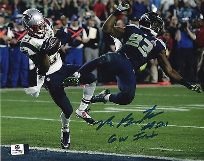 Malcolm Butler New England Patriots Autographed Signed 8x10 photo pic w/coa+
