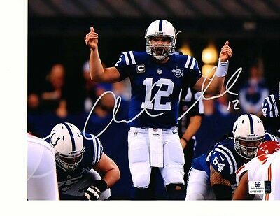 Andrew Luck Indianapolis Colts Autographed Hand signed 8x10 Photo pic w/coa+