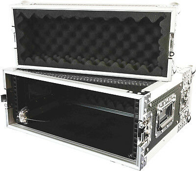 "CaseToGo 4RU 19"" effects rack case flightcase - 350mm sleeve depth"