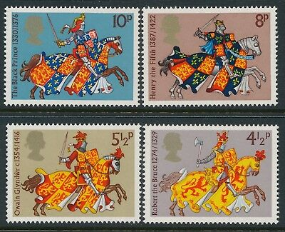 Gb 1974 Medieval Warriors Set Of 4 Fine Mint Mnh/muh Sg958-Sg961
