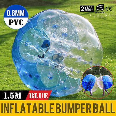 1.5M Body Inflatable Bumper Football Zorb Ball Human Bubble Soccer Ball Blue US