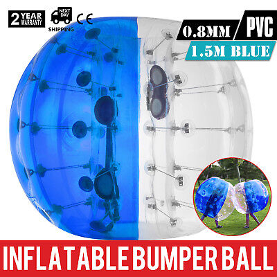 1.5M Inflatable Bumper Football PVC Zorb Ball Bubble Activity Heat Sealed Handle