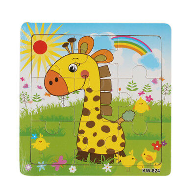 Wooden Giraffe Jigsaw Toys For Kids Education And Learning Puzzles Toys