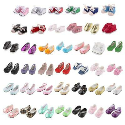 New Cute Pair of Doll Shoes for 18inch American Girl Dolls Clothes Accessories