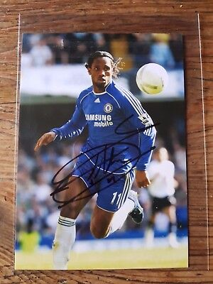 Didier  Drogba     Hand  Signed  Photo