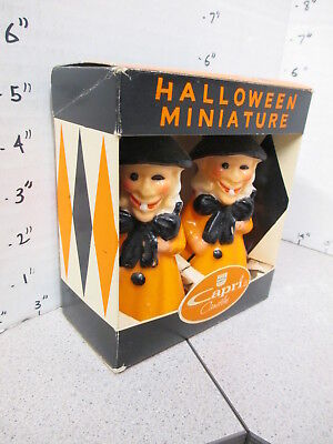 Capri 1960s halloween candles MIB box WITCH set skeleton pumpkin ghost monster