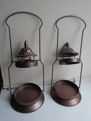 Two Rustic Candle Holder/Toppers for use with Yankee/Colony/Prices Large Jars