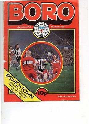 Middlesbrough v Ipswich Town 1977/78 division 1