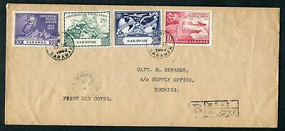 1949 S.S. Malaya Sarawak U.P.U. set stamps on Reg. First Day cover FDC
