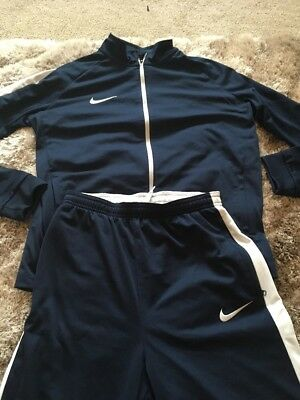 Nike Dri Fit Navy Tracksuit Age 13/15