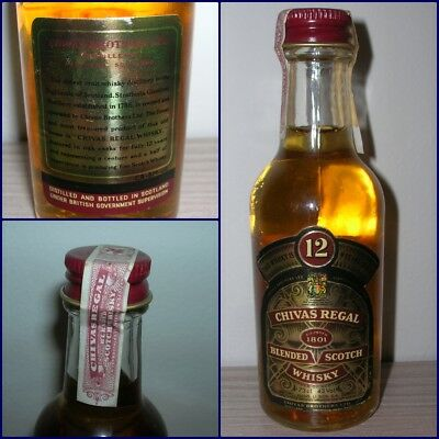 MINIATURA COLLECTION WHISKY CHIVAS REGAL 12 YEARS OLD cl.4,73 gr.43