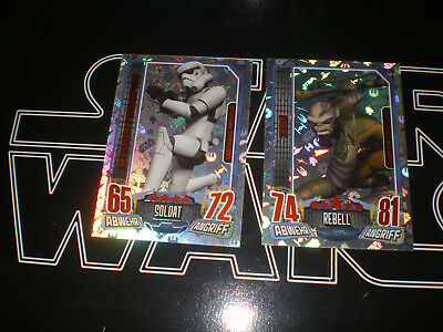 Star Wars Rebel Attax 2 Karten Limitiert MMB CCB