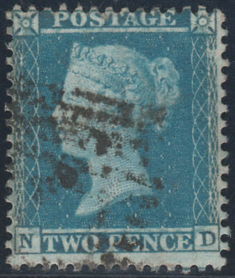 1855 SG23a 2d BLUE PLATE 5 FINE USED (ND)