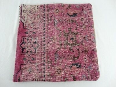 Antique Turkoman Hand Woven Wool Kilim -Tribal Pillow Cover Made in Turkey