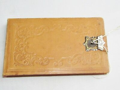 Old antique Edwardian / Victorian love letter keepsake box with lock and key