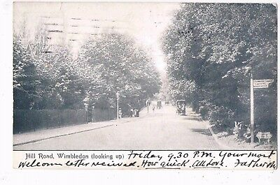 London - Ppc - Hill Road (Looking Up), Wimbledon, Sw. London, 1905