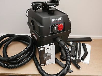 Trend T35/a 2200W M Class Wet & Dry Dust Extractor 230V + Floor Clean Kit