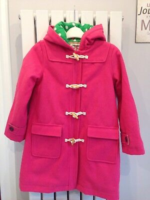 Girls Boden Wool Duffle Coat Winter Pink 9-10 Years Vgc