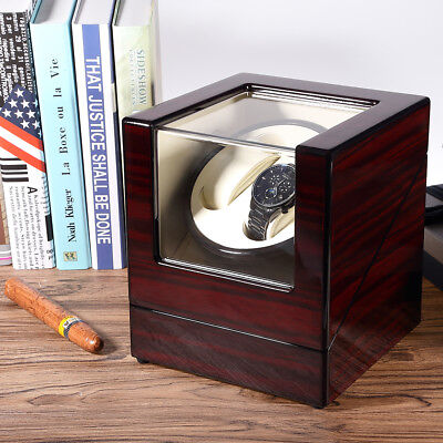 Automatic sanders watchwinder  Watch Storage Boxes Case  for 2 watches UK