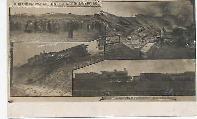 Gothard disaster postcard Midland Railway accident Cudworth Barnsley 1905
