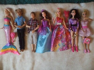 barbie bundle-singing,light up and talking-ken and justin beiber    -mermaid