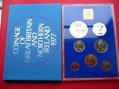 1977 Proof Set Of Decimal Coinage Of Great Britain & Northern Ireland L1