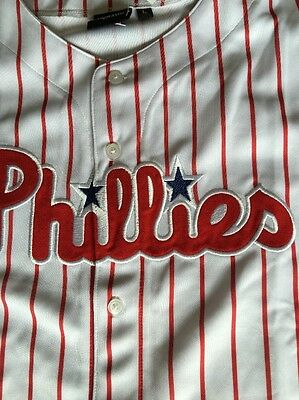 Majestic Phillies Baseball Jersey Size L New Officially Licensed 100% Genuine