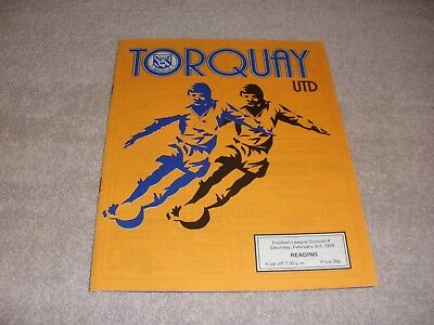 Torquay United v Reading  3/2/79.