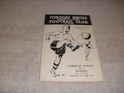 Torquay United v Reading  6/4/53.  Division 3 (South).