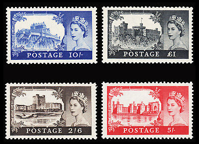 Great Britain QEII 1955-58 Waterlow Castles set of 4 fine mint never hinged £250