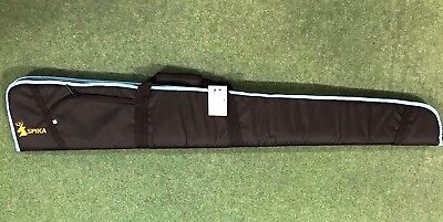 Padded Gun Slip Black with blue coloured trim hunting shooting