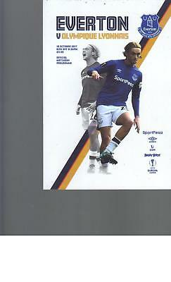 PROGRAMME - EVERTON v OLYMPIQUE LYONNAIS - EUROPA LEAGUE - 19 OCTOBER 2017