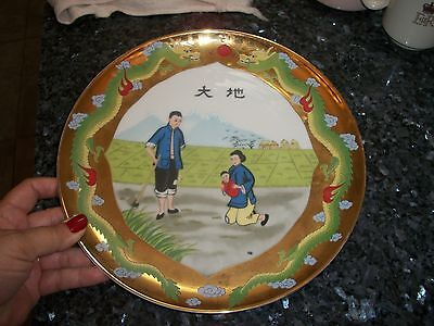 """1973 Pearl S. Buck Series """"The Good Earth"""" Plate Italy Marked 10 1/4"""""""
