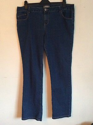 Dorothy Perkins Dark Blue Denim Jeans 18. Excellent Condition