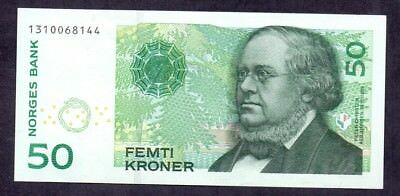 50 Kroner From Norway 2003 Aunc