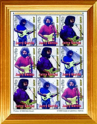 Jerry Garcia Stamp Sheet - Framed