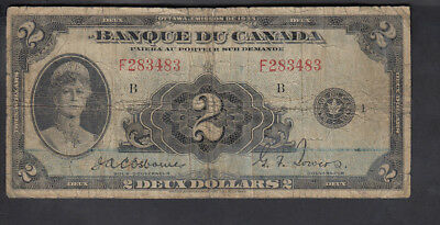 1935 Canada 2$ Dollars Bank Note French