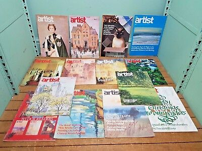 30 Assorted Issues The Artist and The Leisure Painter Magazine 1975-1977