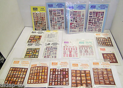 17 Sealed Packs TINY SIGNS 4mm OO Scale Travel Posters / Station Signs