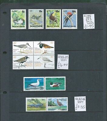 Marshall Islands 12 different Birds stamps some se-tenant all unmounted mint MNH