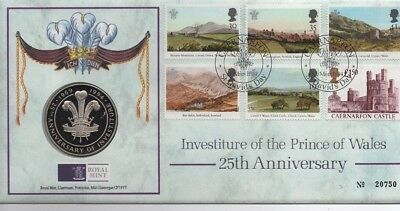 1994 Commemmorative Medal Cover Investiture Prince Wales 25Th Anniversary